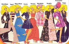 Press out dolls Mary Quant designs 1973
