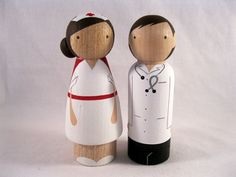 nurse and doctor peg people