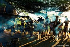 Zulu dancing at Shakaland, Esowhe, KwaZulu-Natalk, South Africa - Travel photography by © Lola Akinmade Åkerström