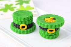 3D St. Patrick's Day Hat Cookies