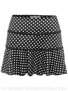 Jerdog Women's Dixie Dots Swing Tennis Skirt