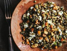 French Lentil Salad with Goat Cheese and Walnuts From 'My Paris Kitchen'