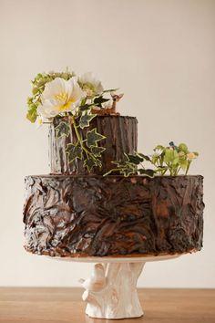 adorable woodland tree stump cake by Wild Orchid Baking Company, Wedding Cakes, Custom Cakes, Cupcakes Pretty Cakes, Beautiful Cakes, Amazing Cakes, Tree Stump Cake, Traditional Wedding Cake, Mod Wedding, Chic Wedding, Wedding Ideas, Woodsy Wedding