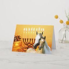 Shop Horse Pals Chanukah Card created by horsesense. Hanukkah Cards, Hanukkah Gifts, Hanukkah Celebration, How To Celebrate Hanukkah, Baroque Decor, Pet Bottle, Light Texture, Christmas Card Holders, Paper Texture