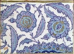Isnik earthenware tile, c.1520-50