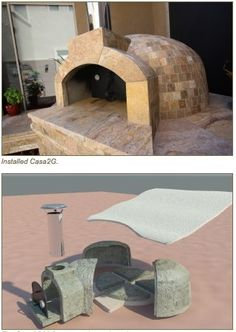 Modular Outdoor Pizza Oven Makes Installation Easy « Luxury Housing Trends Diy Pizza Oven, Pizza Oven Outdoor, Outdoor Cooking, Outdoor Entertaining, Pizza Ovens, Outdoor Kitchen Patio, Outdoor Rooms, Backyard Patio, Outdoor Living