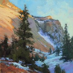 Evenings Retreat, Zion by Kim Lordier Pastel ~ 10 x 10