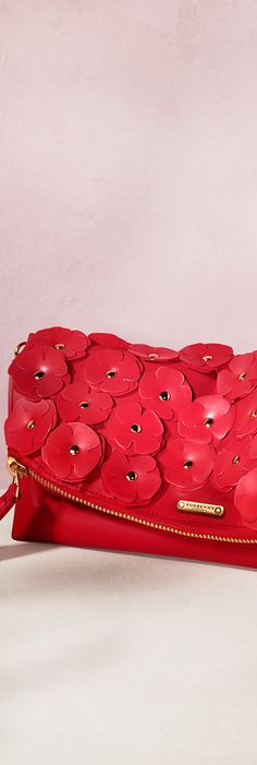 Vibrant pink scattered flowers - The Petal bag from Burberry for S/S14