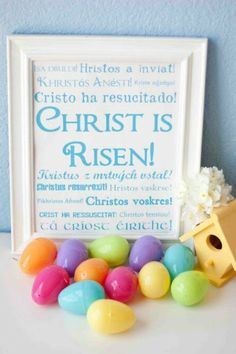 Christ Is Risen Subway Art Printable - 40 Crafty Easter Printables for Perfect Holiday Projects