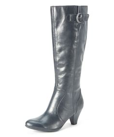 Love this Black Cassie Leather Boot by b.o.c on #zulily! #zulilyfinds