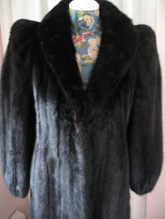 1990's Long Mink Fur Coat  Black by SusieQsVintageShop on Etsy, $245.00