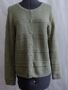MERONA Womens JR XXL Scoop Neck Sweater Pastel Green Cable Knit ...