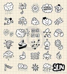 Hand draw weather by Notkoo2008, via Dreamstime