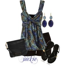 Black and Blue, created by jackie22 on Polyvore