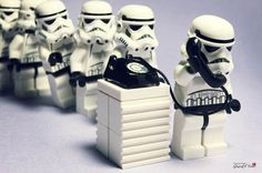 Storm Troopers wait their turn to use a Telephone Line