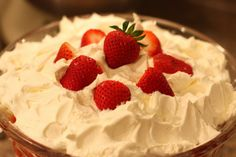 Sabby In Suburbia: It's Strawberry Time: Strawberry Angel Food Trifle