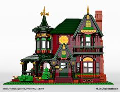 With enough votes, my LEGO Victorian dream home could become a real LEGO set! https://ideas.lego.com/projects/161784
