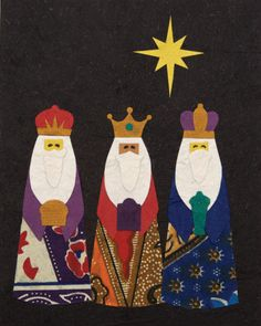 3 wise men or maybe 3 wise brothers? Christmas Picks, Christmas Time Is Here, Little Christmas, Vintage Christmas Cards, Christmas Images, Christmas Art, Xmas, Nativity Silhouette, We Three Kings