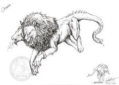 It played a prominent role in various stories of Greek mythology. Greek Monsters, Mythological Monsters, Chimera, Greek Mythology, Mythical Creatures, Moose Art, Alice, Tattoo, Animals