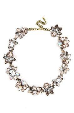 BaubleBar 'Flora' Crystal Collar Necklace