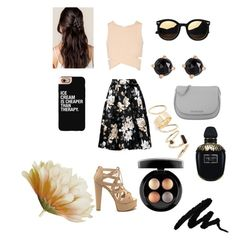 """""""cold Gold"""" by adna-00 ❤ liked on Polyvore featuring Jonathan Simkhai, Michael Kors, BP., Irene Neuwirth, Casetify, Alexander McQueen and MAC Cosmetics"""