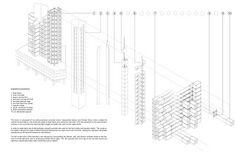 MWArchitecture: prefab / nakagin capsule tower / kisho kurokawa Nakagin Capsule Tower, Kisho Kurokawa, Marine City, Prefab, Architecture Design, Metabolism, Box, Drawing, Architecture Layout