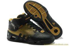 Kevin Garnett Shoes 2013 Black/Gold Adidas Kevin Garnett VI Outlet