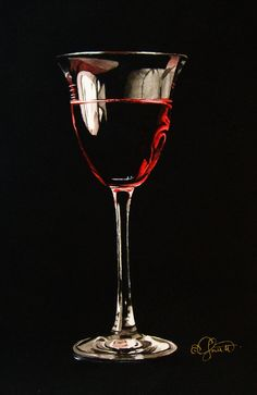 """""""Rosé""""  6"""" x 9"""" ~ Watercolor on Paper  Jacqueline Gnott"""
