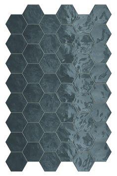 Quality imported tiles, flooring & bathware including the Hexa Wall Ocean Wave Gloss 173 x Shop online, in-store or call 0800 TILEDEPOT. Hexagon Wall Tiles, Geometric Tiles, Ceramic Wall Tiles, Tiles Direct, Terrazo, Art Deco, Tiles Online, Style Tile, Decorative Tile