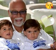 Rene with his twin sons