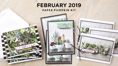 Check out these two alternate projects made with Stampin' Up!'s February 2019 Paper Pumpkin kit called Grown With Kindness. Stampin Up Paper Pumpkin, Coordinating Colors, Little Gifts, Card Stock, Craft Projects, Gallery Wall, Paper Crafts, Kit, Make It Yourself