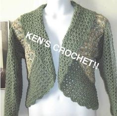 Free Crochet Pattern L0671 Easy Crochet Bolero : Lion Brand Yarn