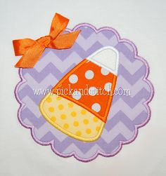 Candy Corn Applique Design - Pick & Stitch