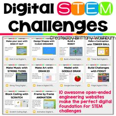 We all want our students to master technology tools and use them to create original works. Digital STEM challenges are designed to allow students to explore digital tools while creating something using the steps of the engineering design process.