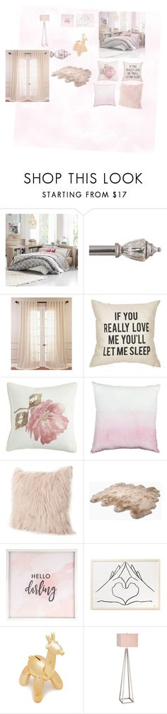 """""""~Collage Room -Decor 💃🏾"""" by societyisblue ❤ liked on Polyvore featuring interior, interiors, interior design, home, home decor, interior decorating, PBteen, Exclusive Fabrics & Furnishings, Pier 1 Imports and UGG Australia"""