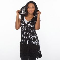 Crochet Hooded Vest - Must Have Fashions - Events