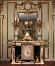 A room from The Hôtel de Cabris in Grasse, now transferred in the MET, · Fireplace ScreensFireplace MantlesFireplacesFrench ...