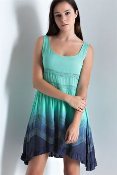Mint/Blue Ombre Tank Dress - Sm to Lg. Grab yours before this beauty disappears!  Amazing weekend specials ~ 20% off Clothing, 10% off Name Brand Clothing and 20% off beauty products (lotions, makeup etc)