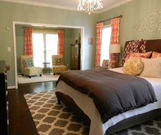 master bedroom decorating ideas - eclectic master bedroom suite with Surya flat weave rug - Atticmag