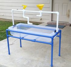 Sensory Table pvc pipe plan / DIY Water Table PDF plan / pvc kids outdoor play station-collapsable plan/ sand play table plan/summer fun PDF - The Best Outdoor Play Area Ideas Diy Outdoor Toys, Kids Outdoor Play, Outdoor Games, Backyard Games, Backyard Ideas, Backyard Water Fun, Kids Outdoor Furniture, Outdoor Crafts, Outdoor Projects