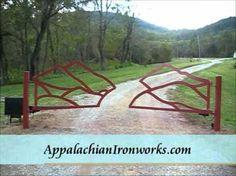 Appalachian Ironworks - Google+   Virginia Ironwork Mountain Gate Automated with solar gate opener peaks of otter