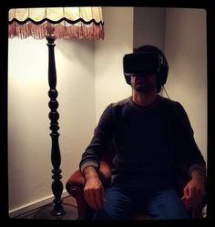 An awesome Virtual Reality pic! My first time in the #VirtualReality: Amazing. I missed you Matchbox Media  mates... #virtualreality #immersivejournalism #storytelling #Chile #fascism #oscarrabin #journalism #media #transmedia #crossmedia #VR #firsttime by albertotetta check us out: http://bit.ly/1KyLetq