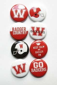 Wsconsin Badgers Flair by aflairforbuttons on Etsy