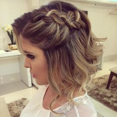 how to style Prom Haircuts for Short Hair - Short Multi-Braided Prom 'Do
