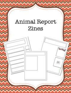 Jungle Animal Reports Informational NonFiction Report Writing