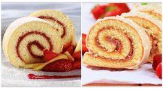 Biskuitrolle mit Marmelade - Schritt für Schritt