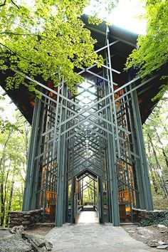 Thorncrown Chapel in the Ozarks of Arkansas by Architect Fay Jones
