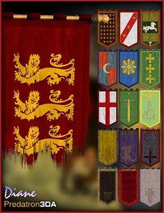 Medieval Banner Pack and Vignette