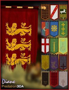 Medieval Banner Pack and Vignette
