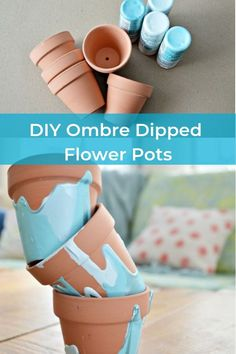 Decorate your flower pots with this gorgeous diy trick! diy | decorate | flowers | flower pots | pots | flowers | ombre | diy flower pots